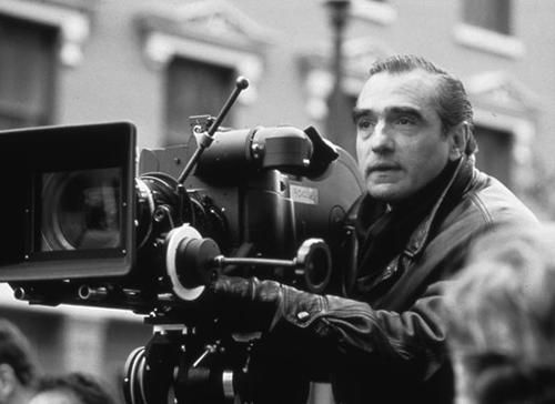 Martin Scorsese directs a film from behind the camera